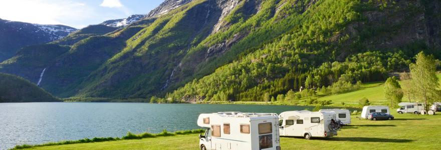 camping au bord de l'océan Atlantique
